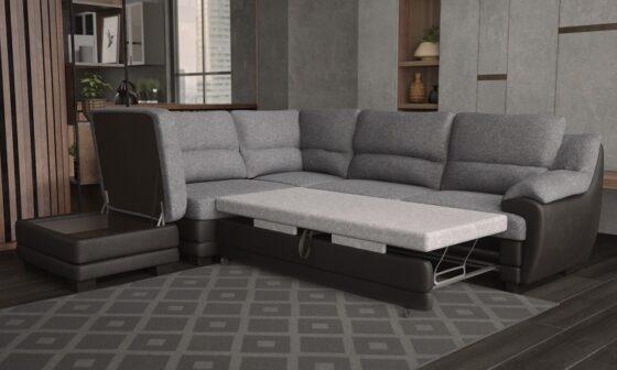 диван малиция с табуретка